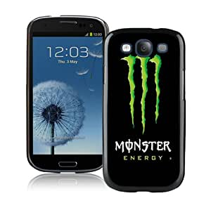 Fashion And Unique Samsung Galaxy S3 I9300 Case Designed With Monster Energy Black Samsung S3 Cover