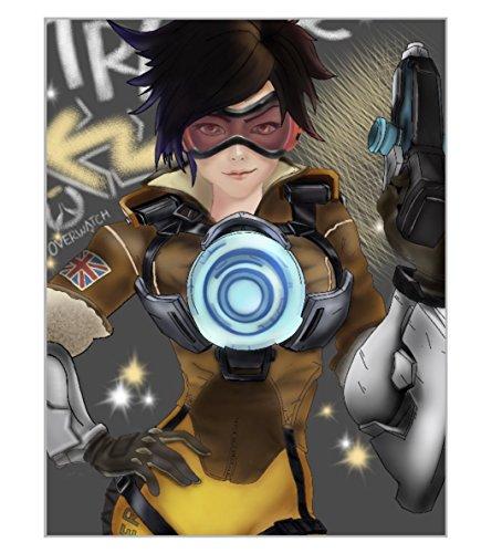 Overwatch Tracer Poster - Tracer Gift, Overwatch Cosplay, Gamer Nerd