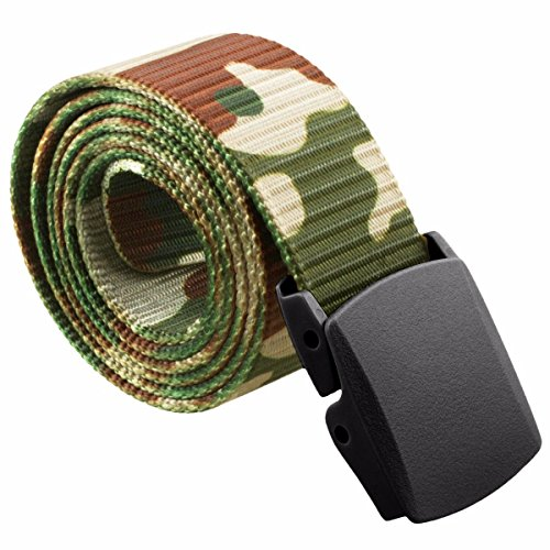 Best Deals! squaregarden Men's Nylon Webbing Military Style Tactical Duty Belt