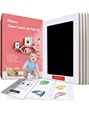 Large Size Baby Inkless Handprint and Footprint Kit with 4 Ink Pads and 8 Imprint Cards by PChero, Perfect for Family Keepsake Baby Shower Gift and Registry