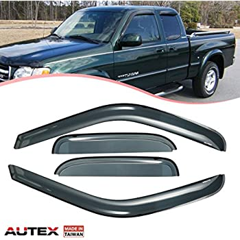 For Toyota Tundra 00-06 AVS In-Channel Ventvisor Smoke Front Window Deflectors