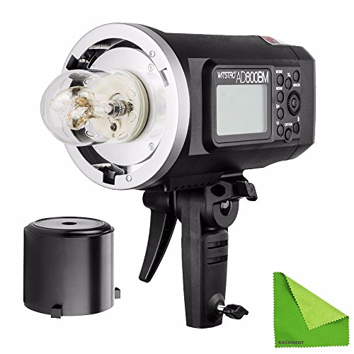 EACHSHOT Godox AD600BM Manual Version HSS 1/8000s 600W GN87 Outdoor Flash Light ( Bowens Mount ) with Lithium Battery 8700mAh for Canon Nikon by EACHSHOT