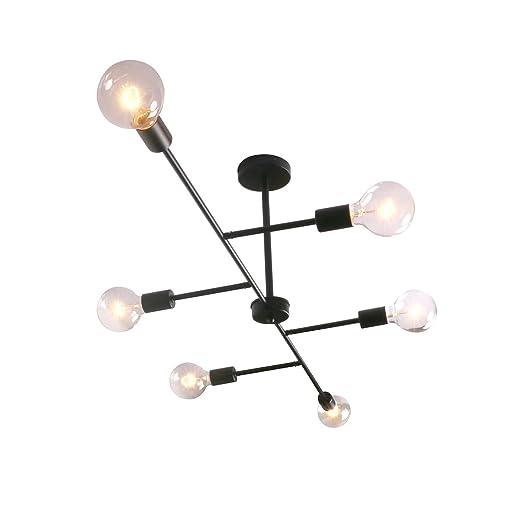Amazon.com: Unitary Brand - Lámpara de techo con 6 ...