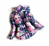 Girls warm coat, baby winter, Jackets For Girls Cute fashion Flowers Children Jackets (2T (18M to 2T), Blue)