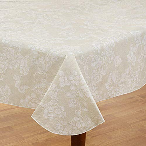DN_LIN New Vinyl Flannel Back Tablecloth 60