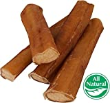 5″ Straight Bully Sticks for Dogs [LARGE THICKNESS] (50 Pack) – All Natural & Odorless | Long Lasting Dog Chew Dental Treats | Best Thick Bully Sticks | Grass-Fed Beef Bully Pizzle Bone | Dog or Puppy For Sale