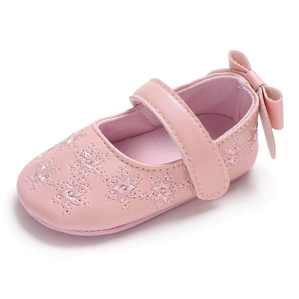 New Sweet Newborn Baby Girls Princess Polka Dot Big Bow Infant Toddler Ballet Dress Soft Soled Anti-slip Shoes Footwear P1 Mother & Kids