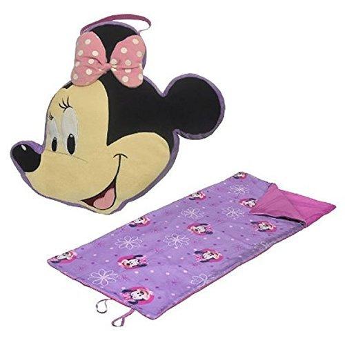 Disney Mickey Mouse & Friends Minnie Mouse Travel Pillow & Convertible Slumber Sack Set