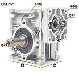Worm Gear Gearbox NMRV-030 Speed Reducer Ratio 80:1
