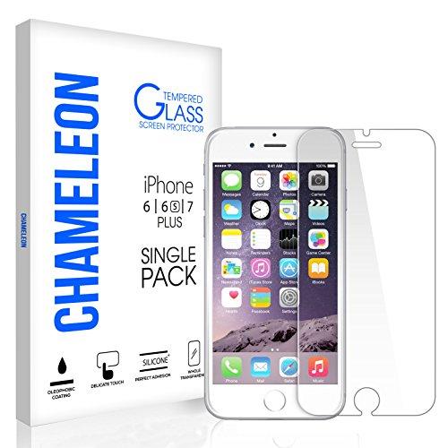 iPhone 7 Plus 6S Plus 6 Plus Screen Protector, Chameleon iPhone 7 Plus Tempered Glass Screen Protector for Apple iPhone 7 Plus, iPhone 6S Plus, 6 (Screen Protector Single)