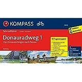 Donauradweg 1, von Donaueschingen nach Passau: Fahrradführer mit 10 Tagesetappen und Routenkarten im optimalen Maßstab und GPX-Daten zum Download.. (KOMPASS-Fahrradführer, Band 6464)