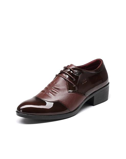 Zapatos De Cuero para Hombres Moda Negocios Trajes Charol ...