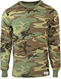 Army Universe Woodland Camouflage Long Sleeve Military T-Shirt with Pin - Size X-Large (45''-49'')