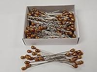"Corsage / Boutonniere Gold Teardrop Pins 2"" Pk/144"