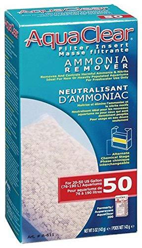 Aqua Clear 50 (200) Ammonia Remover Aquarium Filter Media by Hagen, 4.5 Ounce, 12 Pack