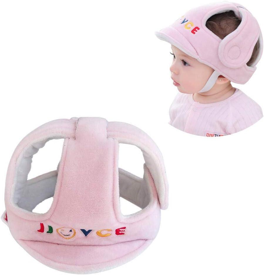 Bebé Protector de Cabeza, Respirable Casco de Seguridad, Niño Tapa de Protección Arneses Sombrero para Infantile Pequeño Aprender a Caminar Correr, Rosa