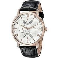 Lucien Piccard Men's LP-10340-RG-02S Verona Analog Display Quartz Black Watch