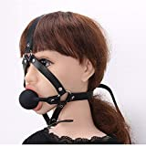 Hobbies and Toys Men SM PlayGag Mouth Ball Adjustable Pin Buckle Bondage Leath