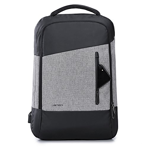 Price comparison product image JSVER Water Resistant Business Laptop Backpack with USB Charging Port that Fits Laptops up to 15.6 Inches