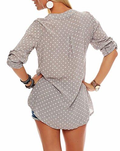 Oversize Taille Tunique Malito Unique Blouse Loose 3 Point Femme 4 fango 3419 Haut qAO0wA