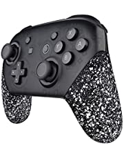 eXtremeRate Griffe Gehäuse für Nintendo Switch Pro,Gehäuse Case Cover Hülle Schale Ersatzteile Zubehör Set für Nintendo Switch Pro Controller-Kein Kontroller(Texturiertes Weiß)