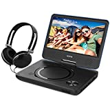 Portable DVD Player By WONNIE: New Generation Video Device With Rechargeable Battery, USB Port, SD Card Slot Memory Reader, Swivel Screen and Stereo Earphones (7.5 inch Blue)