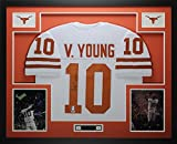 Vince Young Autographed and Framed White Longhorns Jersey Auto PSA COA D3-L (Free Shipping!!)