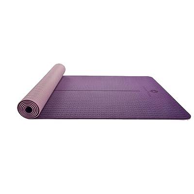 HJHY® Tapis de yoga, Tapis de yoga TPE Femme Élargissement épaissie 6mm Tapis de fitness antidérapant Protection de l'environnement Exercice pad violet Modèles de milieu de gamme Bonne é