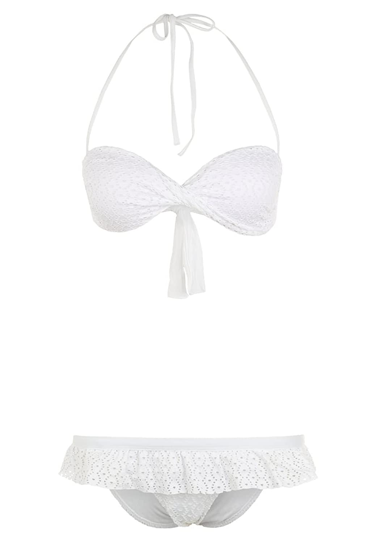 MELISSA ODABASH FLORENCE - Bikini Badeanzug - white weiss Grösse 46