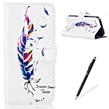 Apple iPhone 5/5S/SE Case, Feeltech [Free Stylus] Premium Folding Flip Magnetic Stand PU Leather Wallet Case Full Body Protective Skin Card holder For Apple iPhone 5/5S/SE -Colorful
