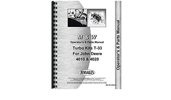 Amazon.com: New Operators + Parts Manual For John Deere M&W Turbo Kits 4010: Industrial & Scientific