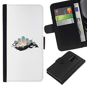 """A-type (Geometría abstracta Espacio"""") Colorida Impresión Funda Cuero Monedero Caja Bolsa Cubierta Caja Piel Card Slots Para LG G3"""