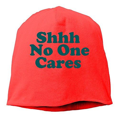 Fgerjiog Shhh No One Cares Skull Cap Helmet Liner Running Beanie - Ultimate Performance Moisture Wicking.Fits Under Helmets Red (Helicopter Helmet Army)