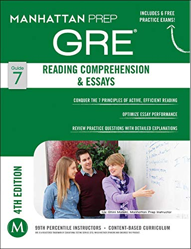 GRE Reading Comprehension & Essays (Manhattan Prep GRE Strategy Guides) (Best Reading Material For Gre)