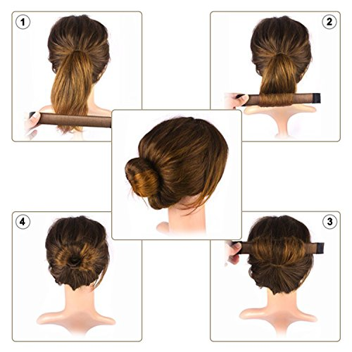 Bun Maker, Magic Bun Shaper Donut Hair Styling Making DIY Curler ...