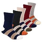 #9: Boys Cotton Socks Kids Winter Warm Socks 5 Pack