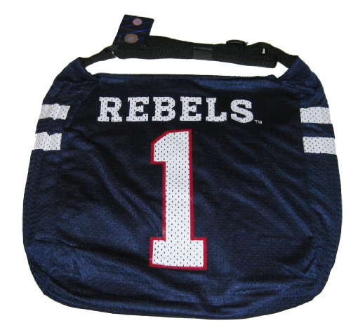 Ole Miss Rebels NCAA #1 Veteran Jersey Tote Bag Purse (Veteran Jersey Tote Bag)