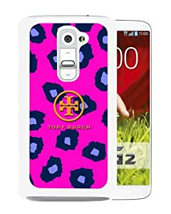 Fashionable And Unique Designed Case For LG G2 With Tory Burch 24 White Phone Case