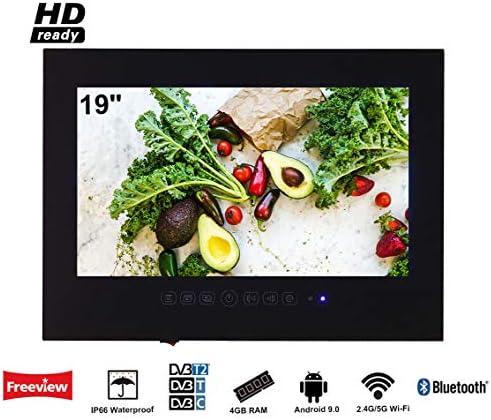 Soulaca innovativtv LED Andriod Smart TV Baño Negro Frontal 19 ...