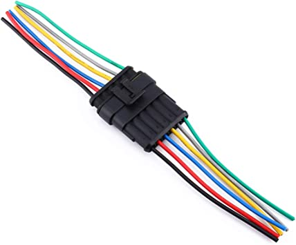 New 5 Kits 3//4//5//6 Pin Way Waterproof 3-Line 3P Car Auto Wire Electrical Connector Plug With Wire AWG Marine