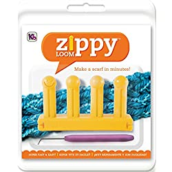 "Authentic Knitting Board KB6500 Zippy Loom, 5.25 by 3"", Yellow"