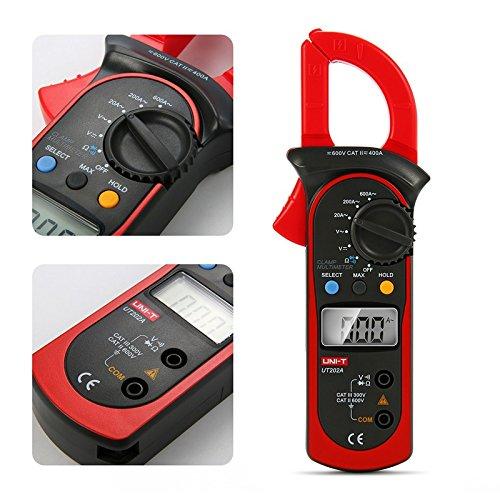 QOJA uni-t ut202a handheld digital lcd dc ac voltage current ohm