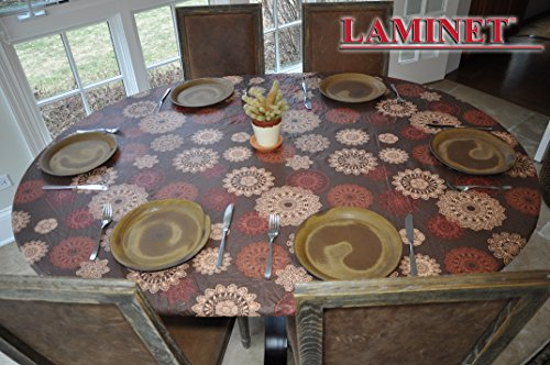 Medallion Elastic Table Cover (Oblong/Oval) (Oblong Tablecloth)