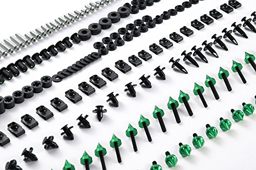 Moto Onfire 118Pcs Green Fairing Bolt Kit Fasteners Screws For DUCATI SUPERSPORT 620 750 900 1991-1998