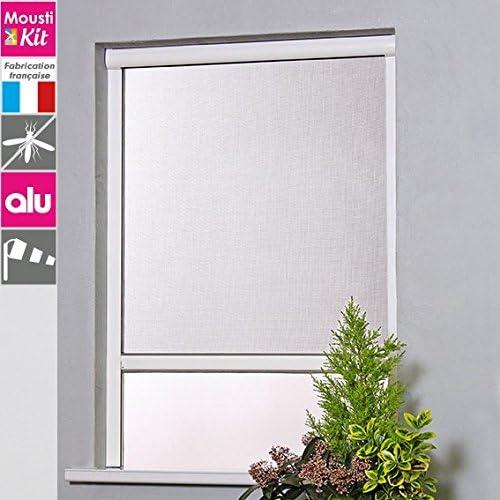 moustikit – Mosquitera enrollable de aluminio para ventana Confort color – Altura recoupable – hasta 160 cm anchura recoupable – de 125 A 180 cm) gris: Amazon.es: Hogar
