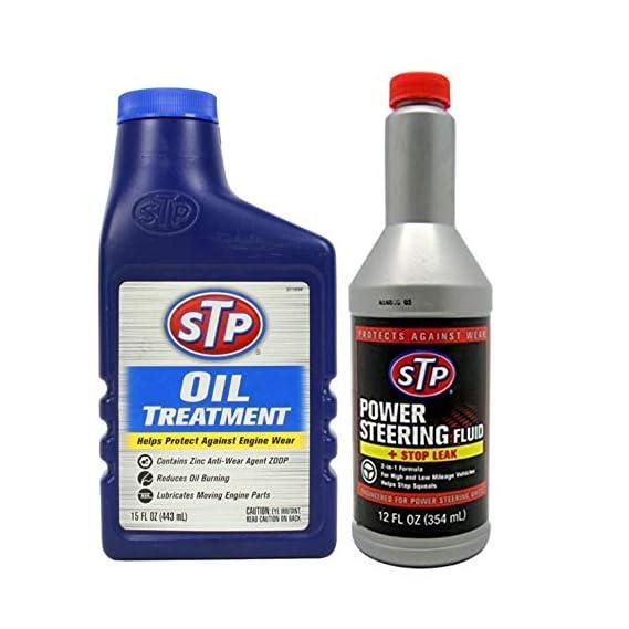STP Oil Treatment 443 ml & STP Power Steering + Stop Leak 354 ml