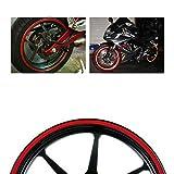 "MotorBRO Red Reflective Motorcycle Car Rim Tape Wheel Stripe Decal USA 16"" 17"" 18"" 9mm Width"