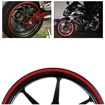 Amazon.com: MotorBRO Red Reflective Motorcycle Car Rim Tape Wheel ...
