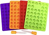 mold fruit - My Fruit Shack DIY Fruit Snacks Set - 4 BPA-Free LFGB/FDA Grade Silicone Molds (Makes 184 Gummies Total), 2 Droppers and 1 Basic Recipe Page