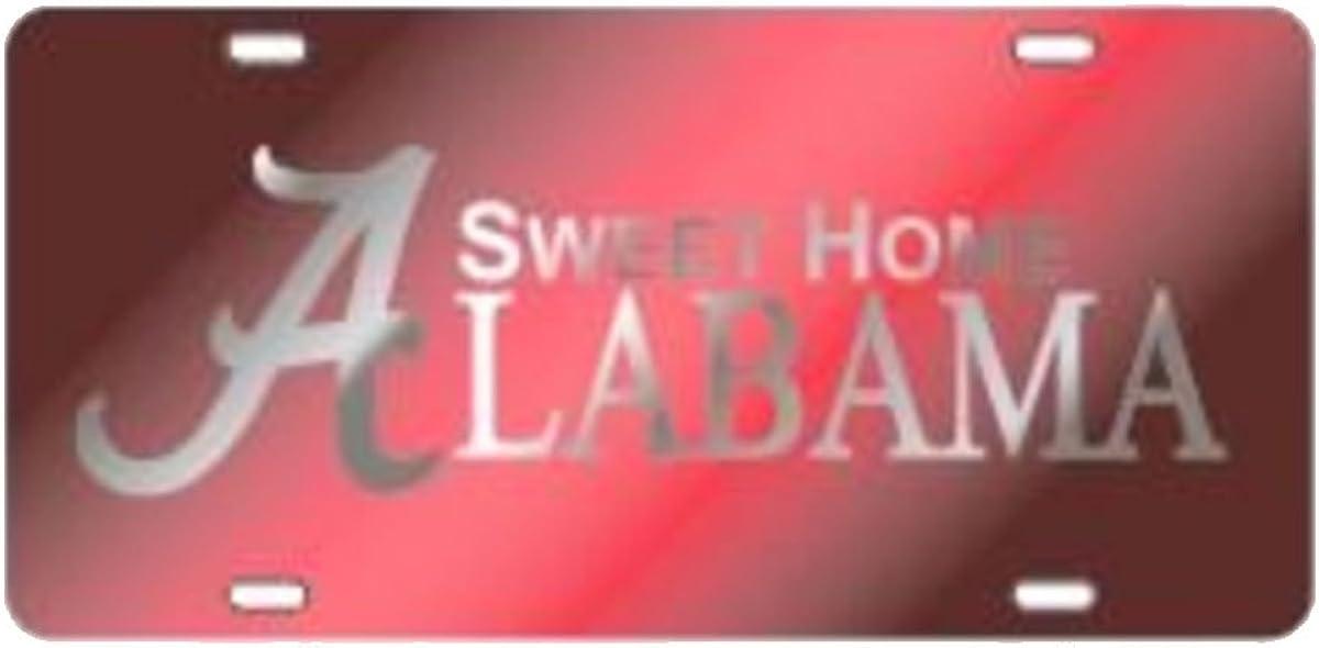 Craftique Alabama Crimson Tide Laser Cut Sweet Home Alabama Car Tag-Cr